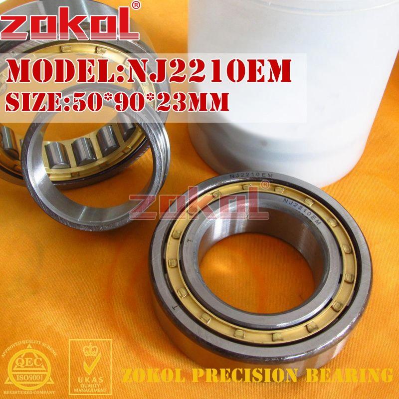 ZOKOL NJ2210 E M bearing NJ2210EM 42510EH Cylindrical roller bearing 50*90*23mmZOKOL NJ2210 E M bearing NJ2210EM 42510EH Cylindrical roller bearing 50*90*23mm