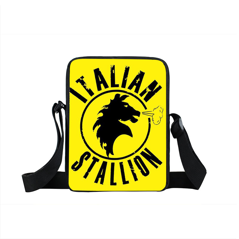 Rocky Balboa Italian Stallion Crossbody Bag Boxer Club Men Women Handbags Mini Messenger Bag Children School Bags Kids Gifts