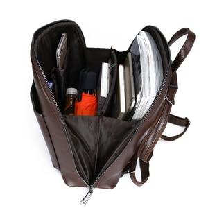 Image 5 - Women Backpack high quality PU Leather  Fashion Backpacks Female Feminine Casual Large Capacity Vintage Shoulder Bags