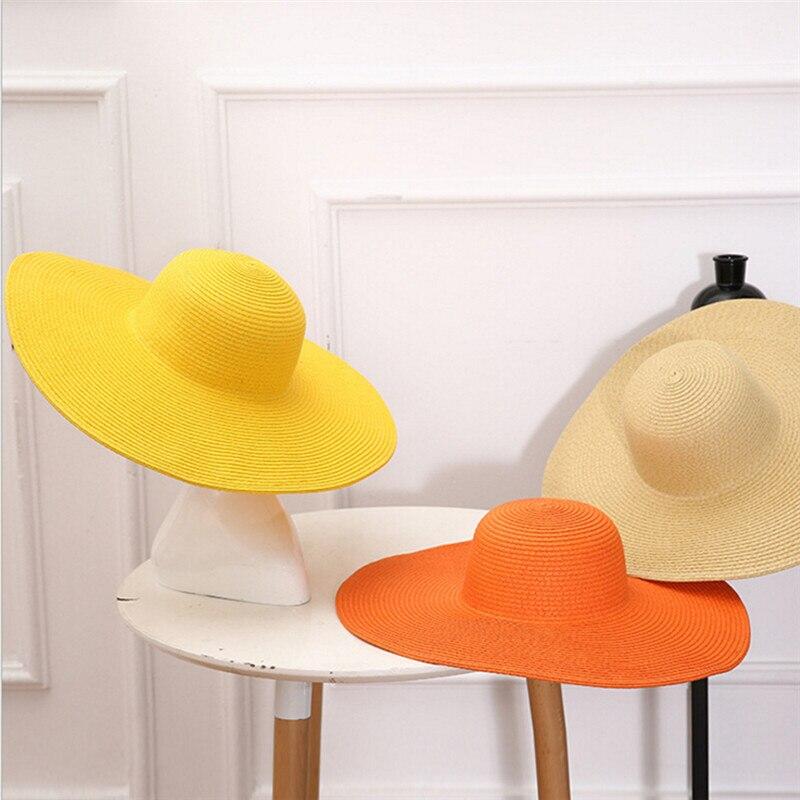 ea088722 Women Wide Brim Ribbon Bow Summer Hats Chapeau Femme Sun Hat Beach ...