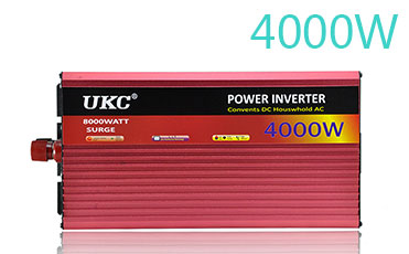 UKC 2000W 3000W 4000W <font><b>Car</b></font> Power Inverter Converter DC <font><b>12V</b></font> <font><b>To</b></font> AC <font><b>220V</b></font> 50HZ Full Protection AC Power Inverter USB Charger <font><b>Adapter</b></font> image