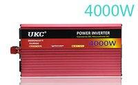 Ukc 2000 Вт 3000 Вт 4000 Вт автомобиля Мощность преобразователь DC 12 В к AC 220 В 50 Гц полная защита AC Мощность инвертор USB Зарядное устройство адаптер