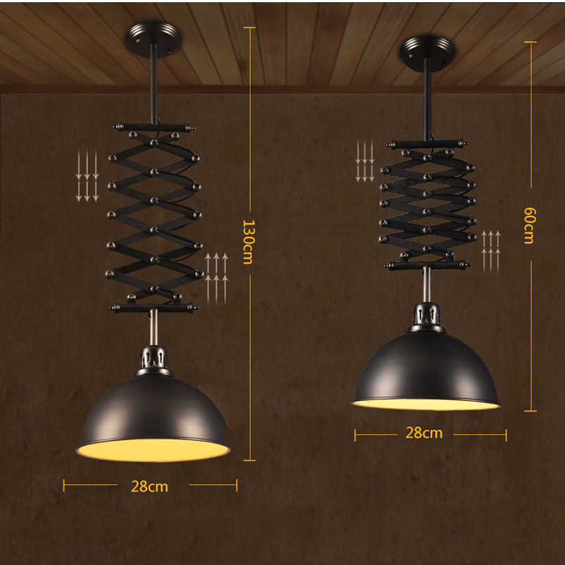 Регулируемый Регулируемая по высоте лампа ретро Лофт гостиная столовая спальня свет restuarant бар клуб кафе Гибкая сценическая лампа