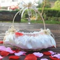 Роза Кружево для девочек в цветочек корзина! Свадьба лепестки украшения свадебной церемонии вечеринок