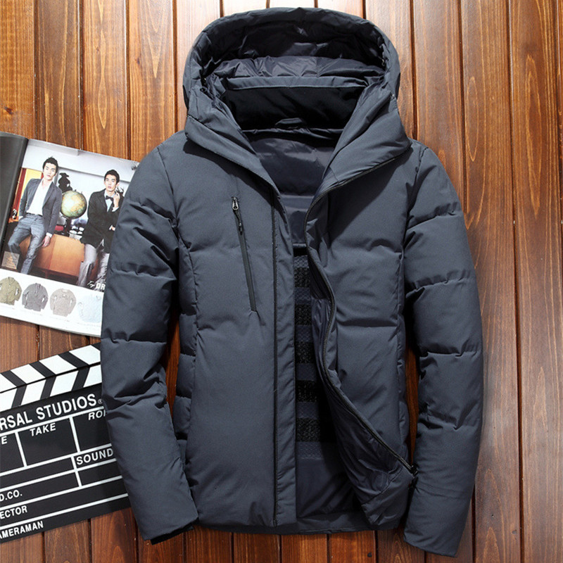 Men's Winter Ultralight Thermal  Warm White Duck Down Jacket Outdoor Windproof Cold Proof Coat Camping Hiking Trekking Clothes