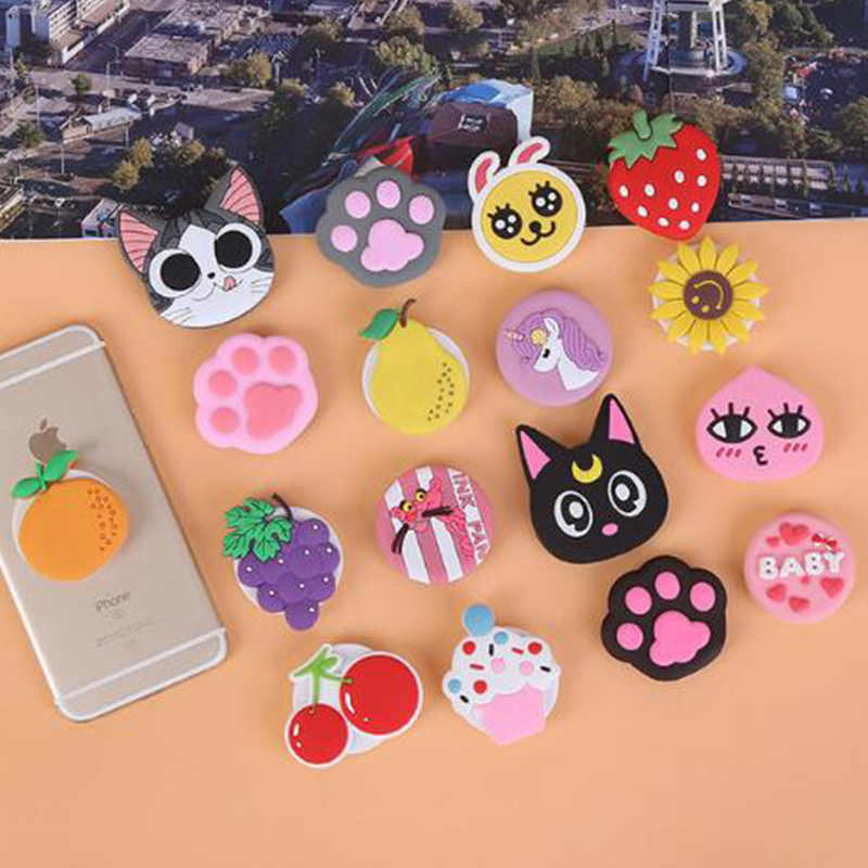 Cartoon Cute Pipsocket Finger Grip Holder Clip Stand for IPhone Samsung Huawei Popsoket Pocket Socket Air Bag Cell Phone Bracket