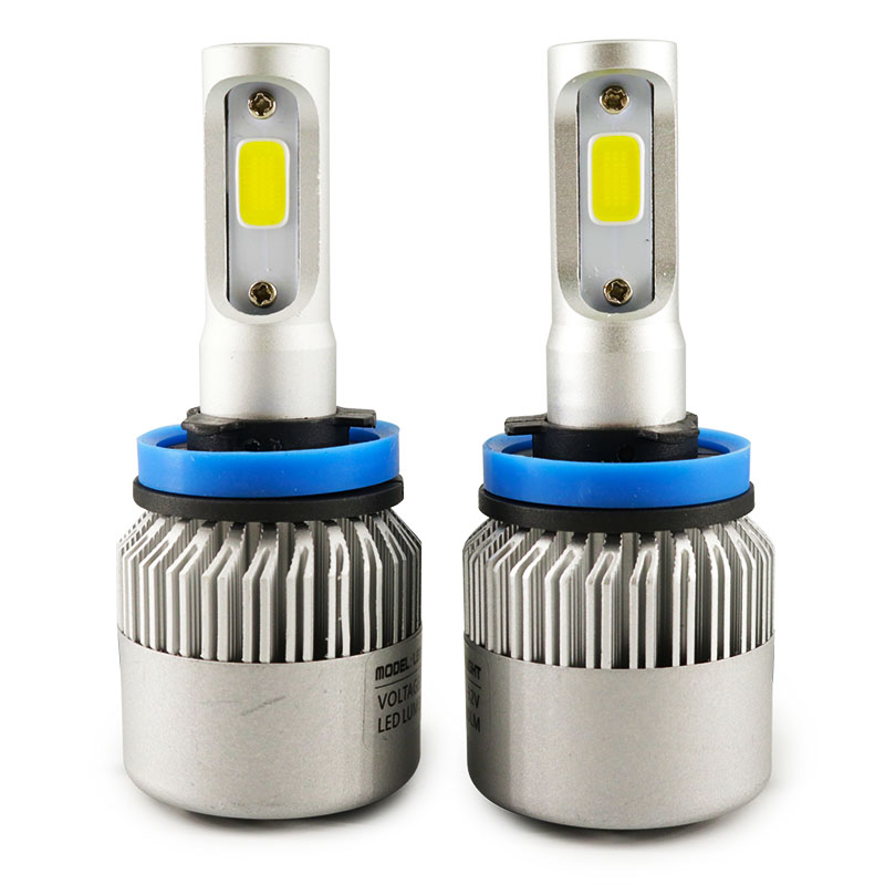 2pcs Automobiles Lamp <font><b>72W</b></font> 8000LM <font><b>H11</b></font> H8 H9 COB <font><b>LED</b></font> Headlight Bulbs Car Styling Auto Headlights Conversion Automobile Fog Lamp