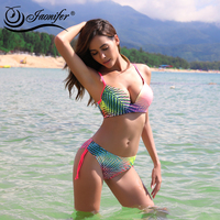 Gradient Color Bikini Women Push Up Swimsuit Backless Biquini Ladies Bandage Swimwear Brazilian Biquinis Swimming Suit