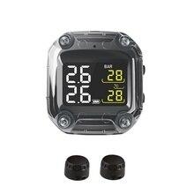 M3 กันน้ำรถจักรยานยนต์ Real Time ระบบตรวจสอบความดันยาง TPMS Wireless LCD จอแสดงผลภายในหรือภายนอก TH/WI เซ็นเซอร์