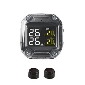 Image 1 - Система контроля давления в шинах M3, водонепроницаемый TPMS беспроводной ЖК дисплей, внутренние или внешние датчики давления в шинах