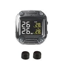 M3 Wasserdichte Motorrad Echtzeit Tire Pressure Monitoring System TPMS Drahtlose LCD Display Interne oder Externe TH/WI Sensoren