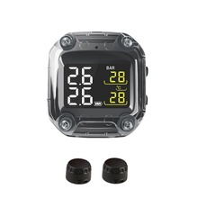 M3 مقاوم للماء دراجة نارية في الوقت الحقيقي نظام مراقبة ضغط الإطارات TPMS اللاسلكية شاشة الكريستال السائل الداخلية أو الخارجية TH/WI أجهزة الاستشعار