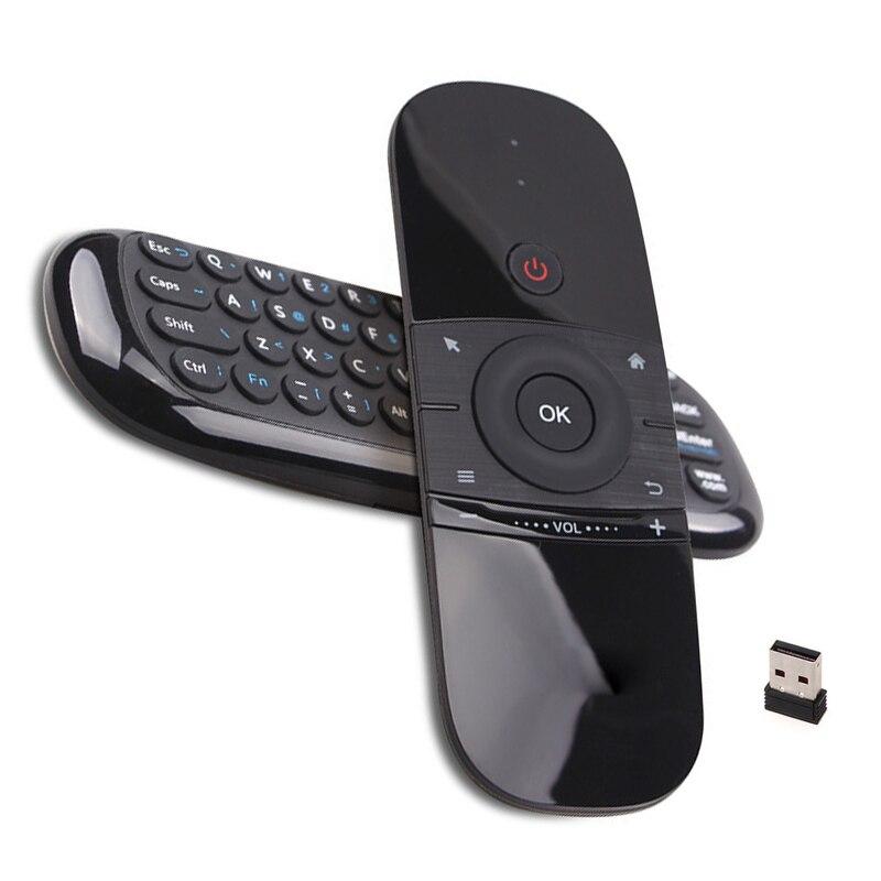 FlyMouse bezprzewodowy klawiatury rosyjski i angielski czujnik ruchu 2.4GHz Mini wielokrotnego ładowania W1 i C120 inteligentny pilot zdalnego sterowania Smart TV
