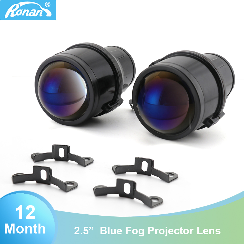 "RONAN 2.5"" Bi xenon projector blue lens CNH11 lamp similar T W fog lenses car styling retrofit auto headlights-in Car Light Accessories from Automobiles & Motorcycles    1"