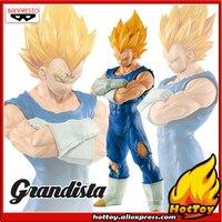 Original Banpresto Resolution of Soldiers Grandista Vol.2 Collection Figure Super Saiyan Majin Vegeta from Dragon Ball Z