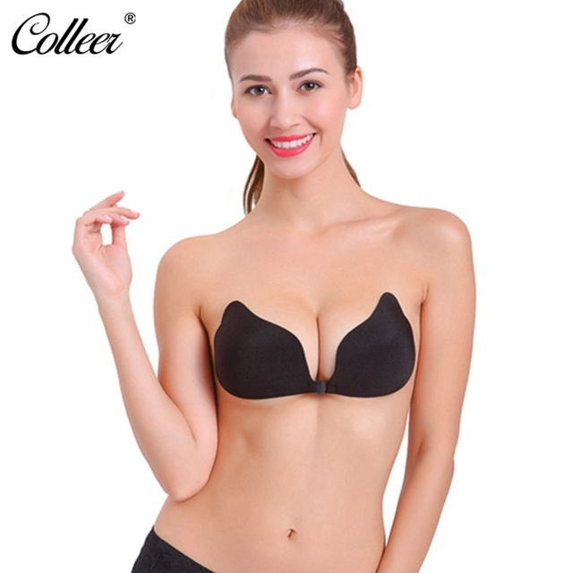 ac048524828f1 COLLEER Sexy BH Bras For Women Push Up Bra Silicone Adhesive Stick Reusable  Strapless Invisible Bras Backless Seamless Cup A-D