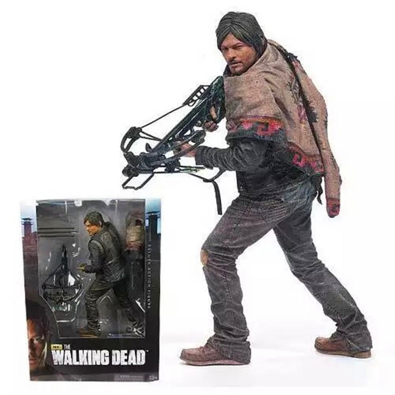 The Walking Dead Figure Daryl Dixon Action Figures Doll Collection Toys Christmas Gift 25CM  the walking dead action figure zombie figures head resin crystal car ornament home desk decoration furnishing articles