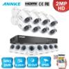 ANNKE 8CH 1080P HD TVI DVR 8x 2MP Smart Search Home Security Camera System 1TB