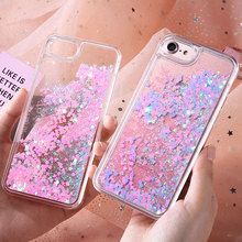 JASTER Quicksand Case For iphone 5 5s SE 7 6 s Plus Case Cute Sequins Glitter Plastic Back Cover For iphone 7 6s 5 4s Cases