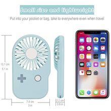 Mini usb charging game machine fan outdoor portable thin handheld creative pocket