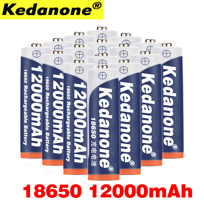 2~20pcs 100% New Original18650 battery 3.7 v 12000 mah 18650 Lithium 18650 Rechargeable Battery For Flashlight batteries
