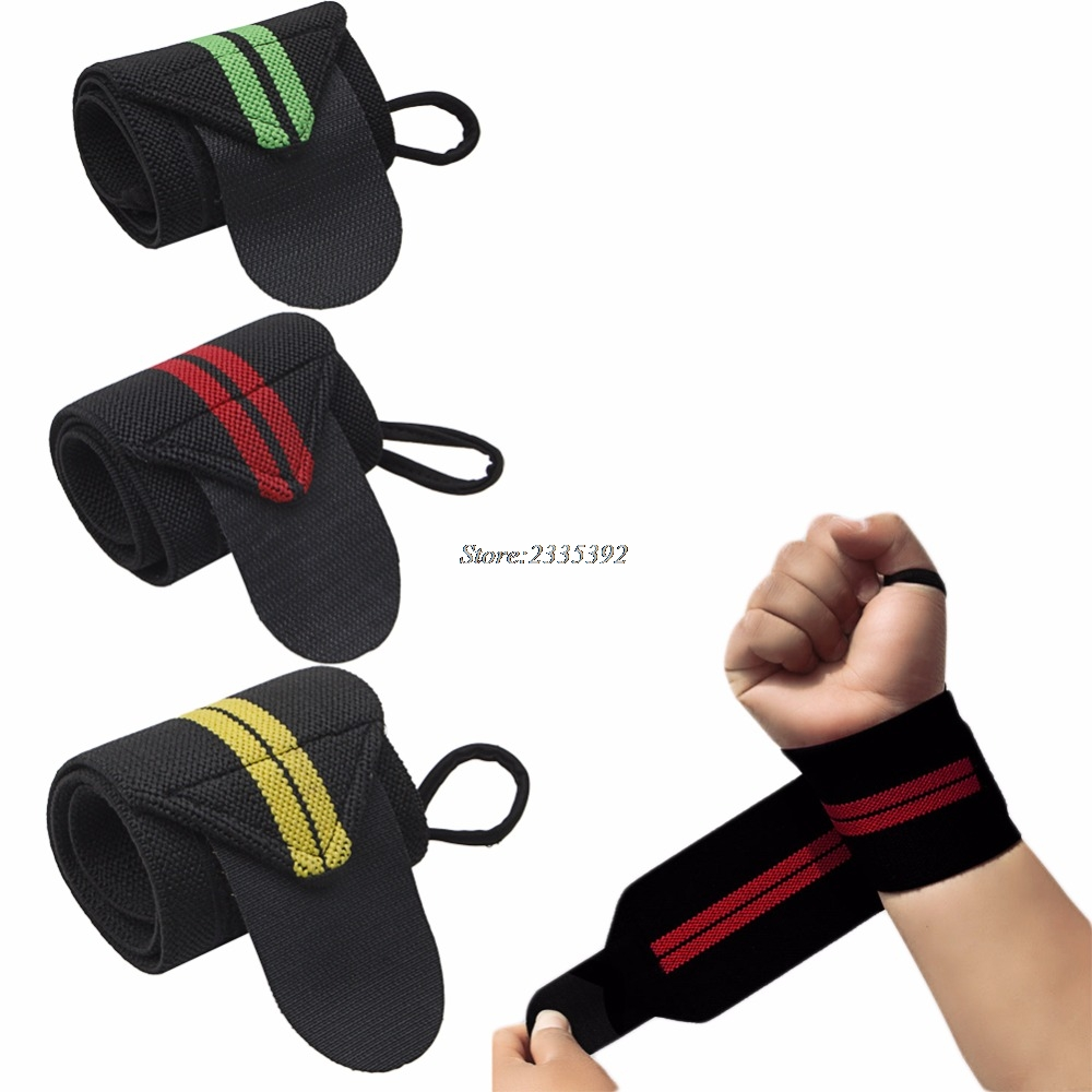 Gym Sport Weight Lifting Training Fitness Wrist Wraps Bandage Hand Support Strap practical wrist strap fitness gym fitness strap hand peace fingers palm wrist protector dumbbells horizontal bar sports gloves
