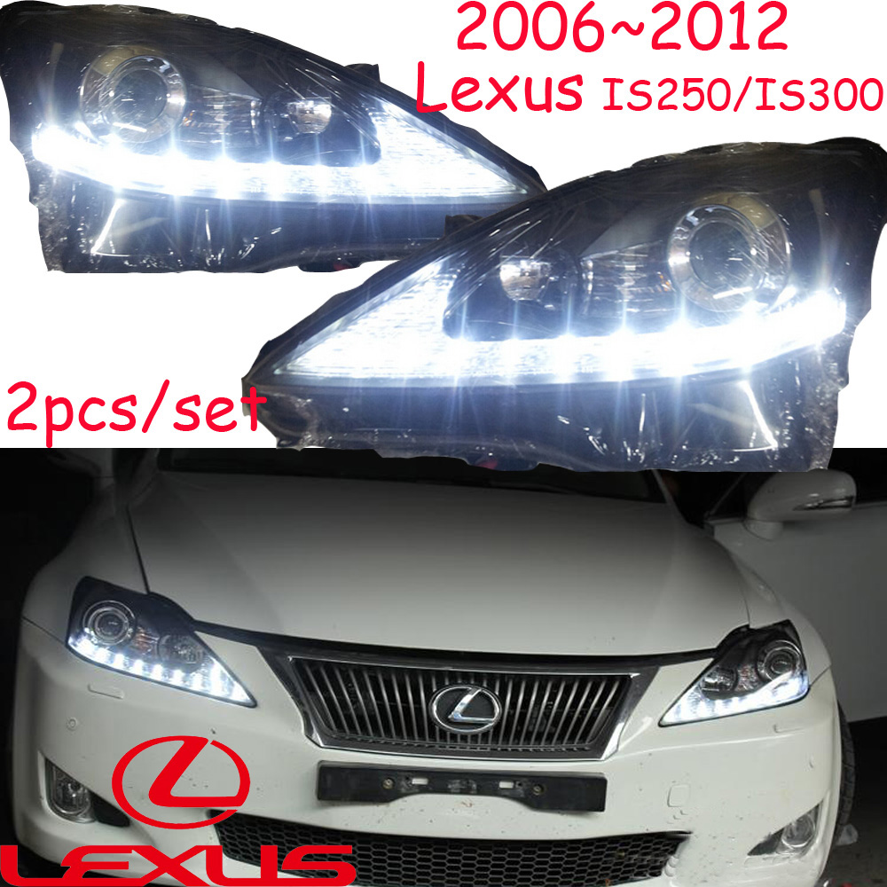 car-styling,IS300 IS250 headlight,2006~2012,Free ship!IS300 IS250 fog,LED,2ps+2pcs Aozoom Ballast,IS300 IS250 head lamp,RX350