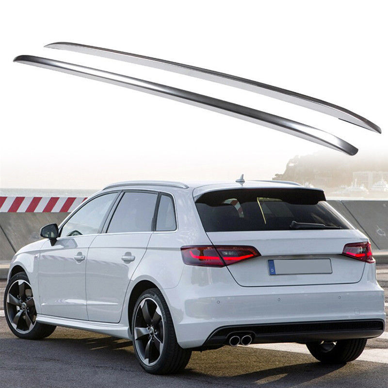 Decorative Silver Top Roof Rack Rails Side Bars Fit For