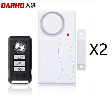 Darho Home Security Door Window  Alarm Warning System Wireless Remote Control Door Detector Burglar Alarm for package high quality hot sale 100db wireless alarm system burglar safely security window door home magnetic sensor best promotion