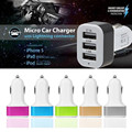 Triple Universal USB Car Charger 3 Port Car-charger Adapter Socket  2.1A 2.0A 1.0ACar Styling USB Charger For Car-Styling