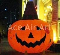 Хэллоуин Пользовательские малыш надувные подсветкой ужасный тыквы Призрак для Halloween Party украшения