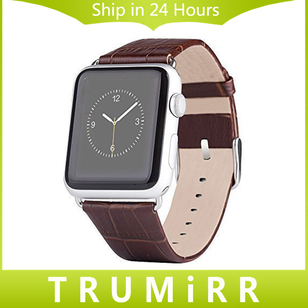 22mm 24mm Genuine Leather Watch Band for iWatch Apple Watch Sport Edition 38mm 42mm Bracelet Strap with Link Adapter Connector genuine leather band 22mm 24mm for iwatch apple watch 38mm 42mm watchband strap bracelet with connector adapter black brown red