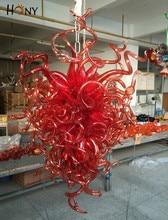 лучшая цена Free Shipping 110/220v Best Design Hotel Large Red Colored Chandelier Crystals