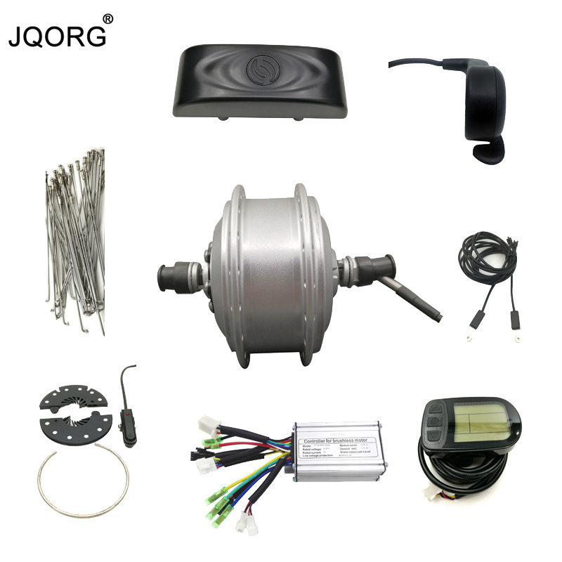 JQORG E-bike Refit Kits 36V 250W Brushless Geared Hub Motor And Motor Kits For Electric Bicycle E-bicycle Conversion Motor Kits risunmotor 36v 250w electric handcycle folding wheelchair attachment handbike diy conversion kits with 36v 9ah li ion battery