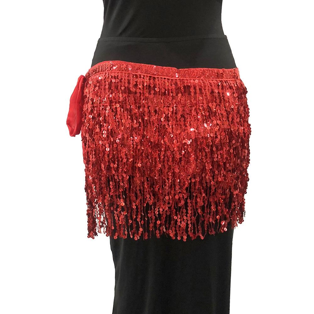 MUXU Золотая юбка с блестками женская юбка jupe faldas jupe femme falda уличная мини etek бахрома сексуальная летняя мода faldas cortas - Цвет: red