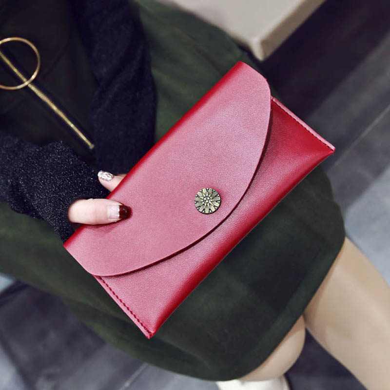 Women famous Brand Design High Quality Fashion Womens Chrysanthemum Leather Trifold Long Wallet Card Holder Vintage Clutch Purse manufacturers to supply high quality 100g wild chrysanthemum extract 30 1