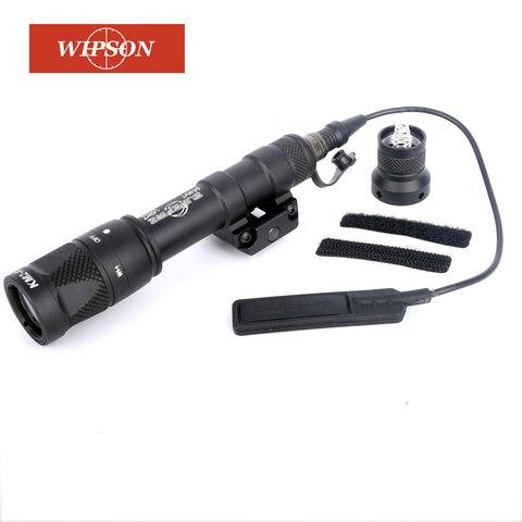 wiinson m600v scout luz constante momentanea luz branca rifle tocha lanterna com montagem em trilho