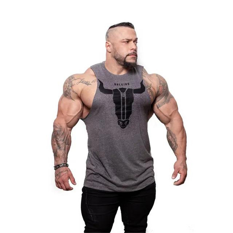 New design Men Brand Gyms Sleeveless bodybuilding   Tank     Tops   Men's Summer gyms Fitness Casual O-neck Men   Tank     Tops