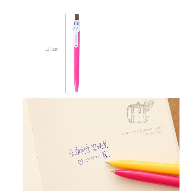6 pcs Cute animal ballpoint pen 0 5mm Blue color Rabbit Frog Cartoon Stationery Office School supplies Canetas escolar FB207 in Ballpoint Pens from Office School Supplies