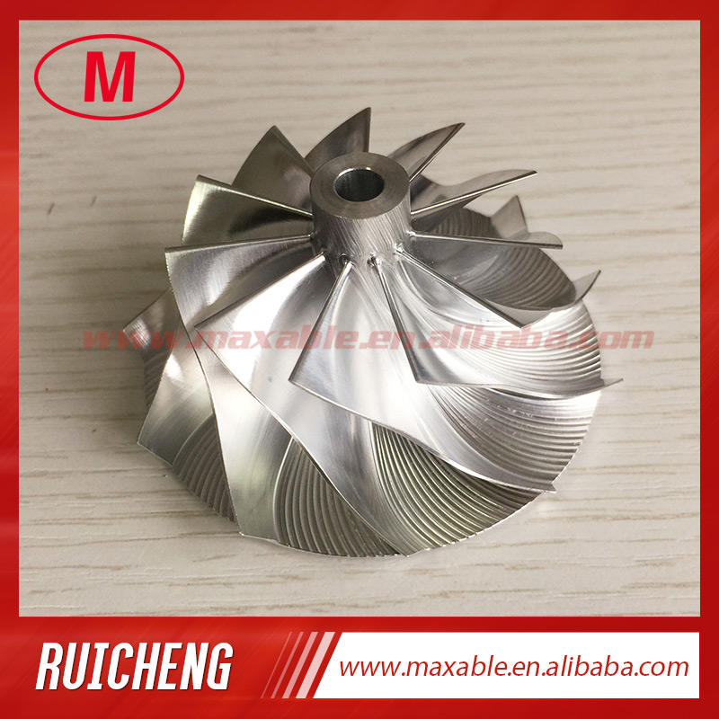 CT26 48,30/64,89 мм 11 + 0 лопасти турбо заготовка/алюминий 2618/Фрезерное компрессорное колесо