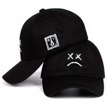 8b07ae466c3e Lil Peep Sad face Dad Hat Embroidery 100% Cotton Baseball Cap Hat  xxxtentacion Hip Hop