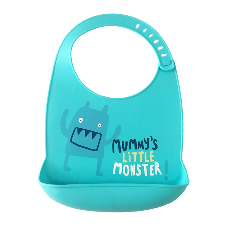1 Pc Kinderen Cartoon Stereo Take-up Pocket Siliconen Slabbetjes Baby Waterdichte Slabbetjes Speeksel Zakken Verstelbare Voeden Schort Bandana