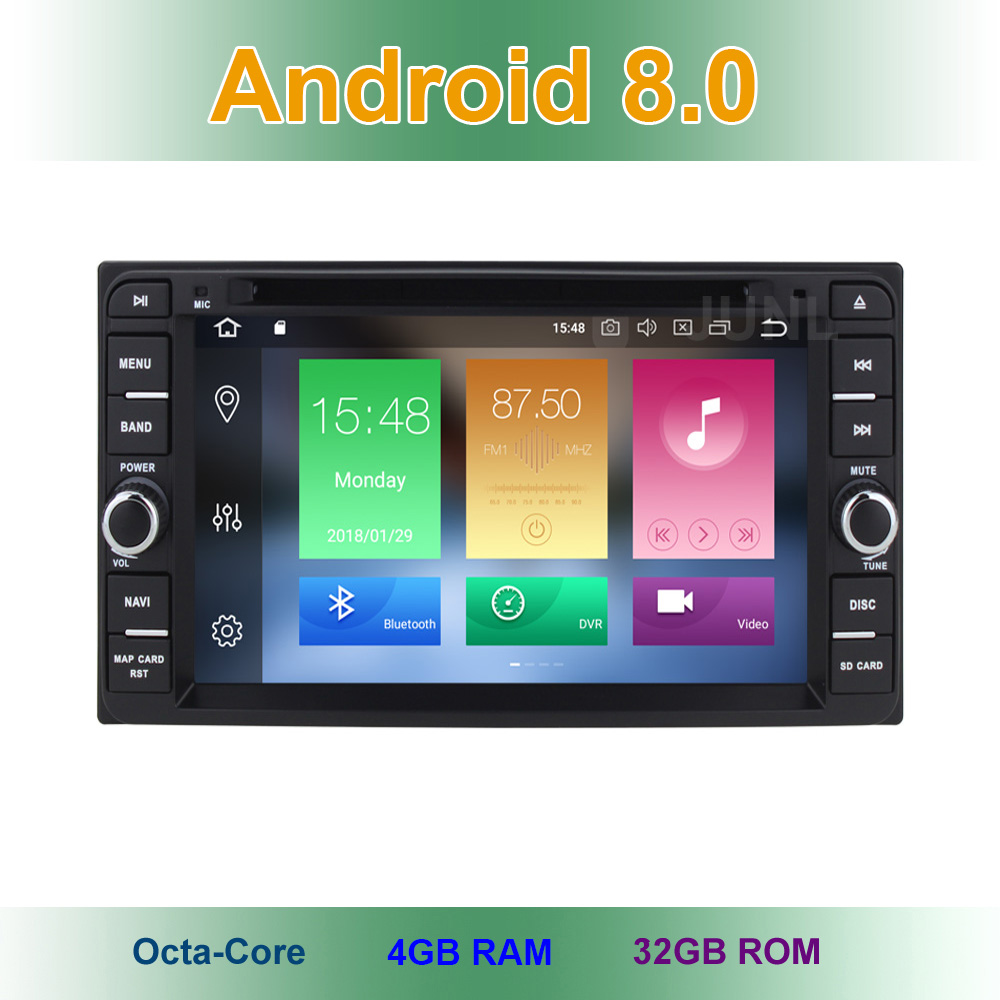 4GB RAM Android 8.0 Car DVD Video Player for Toyota Terios Old Corolla Camry Prado RAV4 Universal with Radio WiFi Bluetooth GPS
