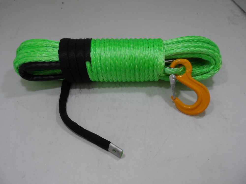 Grey 3//16*10ft ATV Snow Plow Lift Rope,Synthetic Rope,ATV Winch Rope,Winch Line