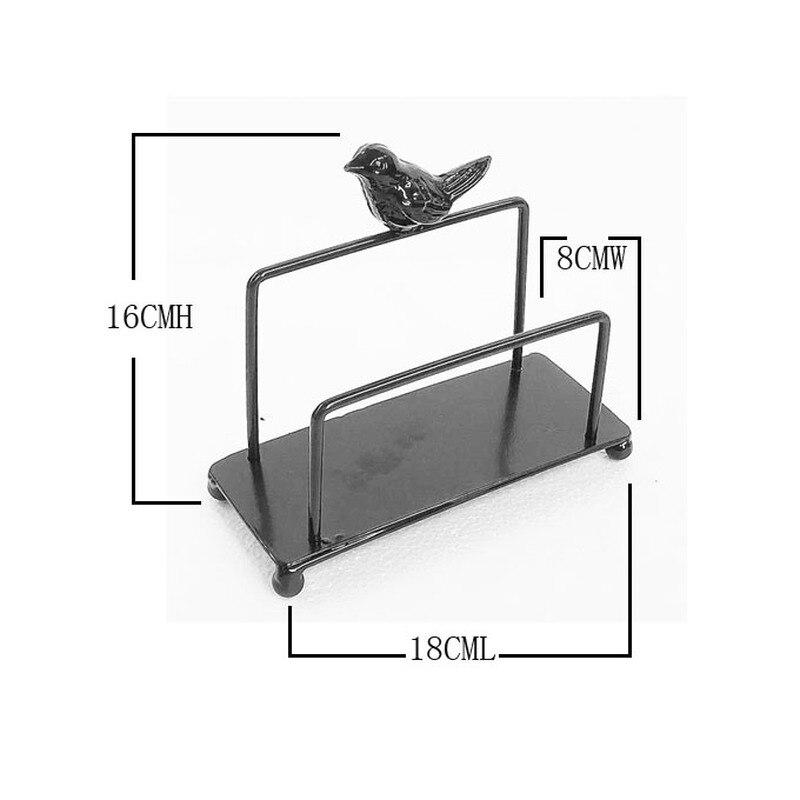 Кованое железо большой салфетка держатель вестерн ресторан кафе гостиница рабочий стол хранение стеллаж птица полотенце вешалка креатив дом