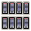 8pcs TIVDIO Keypad RFID Access Control System Proximity Card Standalone 2000 Users Door Access Control Waterproof