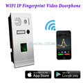 Wireless WIFI Fingerprint IP Video Doorphone Intercom System via IOS/Android Mobiles & Tablets Control