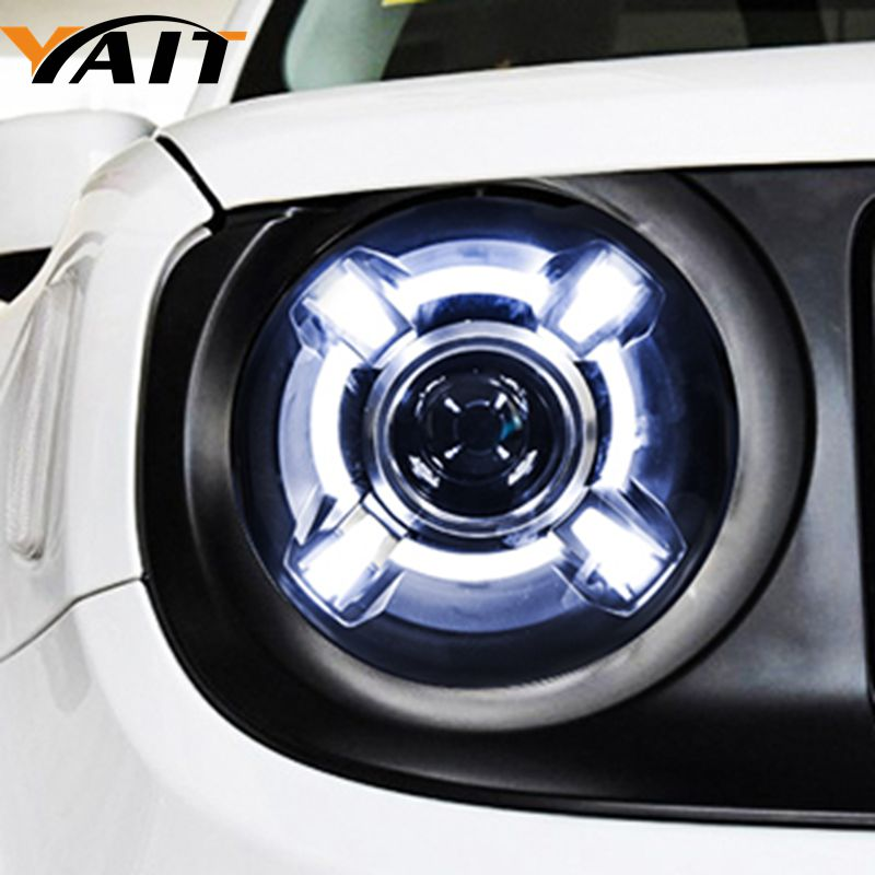 Led headlights For Renegade head lamp Angel eye led DRL front light Bi-Xenon Lens xenon HID KIT car styling for chevrolet trax led headlights for trax head lamp angel eye led front light bi xenon lens xenon hid kit