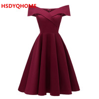 In Stock Women's short Evening dresses Stain A line Sexy Prom party gown cheap dress