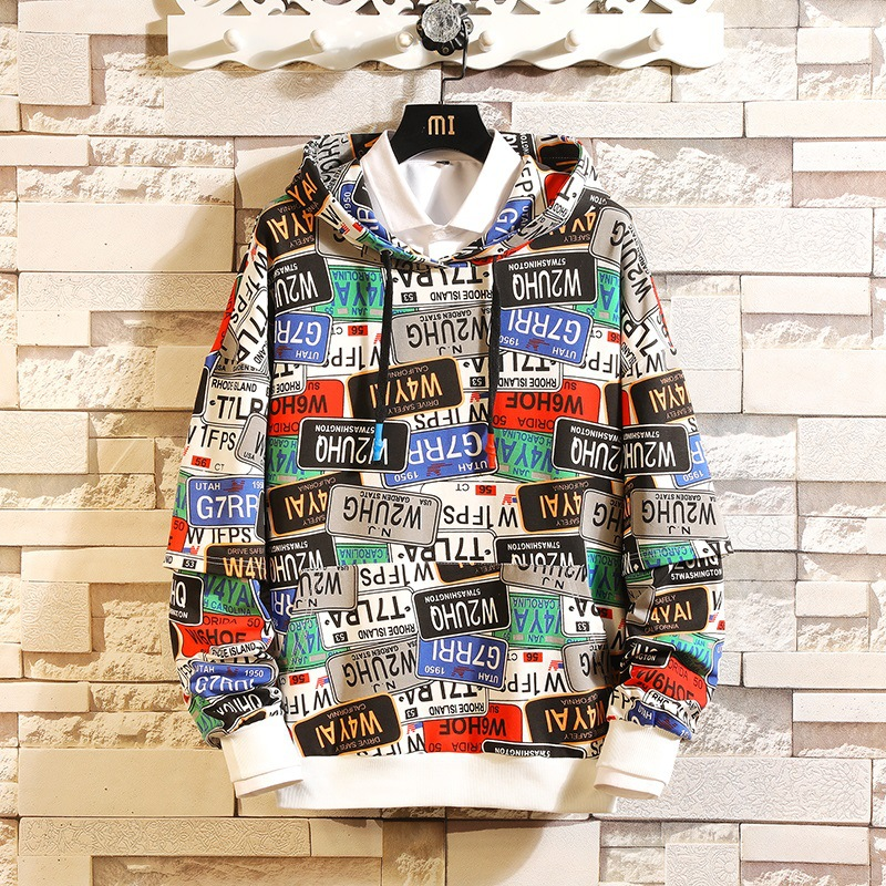 22 Style Autumn Spring 2020 Hoodie Sweatshirt Mens Hip Hop Punk Pullover Streetwear Casual Fashion Clothes Plus Asian Size M-5XL